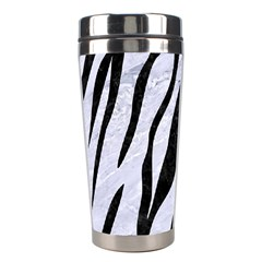 Skin3 Black Marble & White Marble (r) Stainless Steel Travel Tumbler by trendistuff