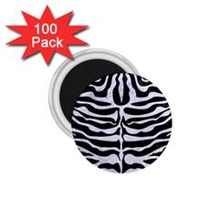 Skin2 Black Marble & White Marble 1 75  Magnet (100 Pack)  by trendistuff