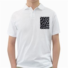 Skin1 Black Marble & White Marble (r) Golf Shirt by trendistuff