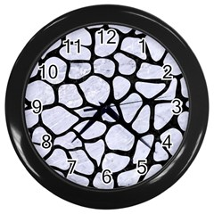 Skin1 Black Marble & White Marble Wall Clock (black)