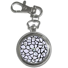 Skin1 Black Marble & White Marble Key Chain Watch by trendistuff