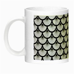 Scales3 Black Marble & White Marble (r) Night Luminous Mug by trendistuff