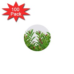 Tropical Floral Print 1  Mini Buttons (100 Pack)  by dflcprints