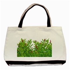 Tropical Floral Print Basic Tote Bag (two Sides) by dflcprints