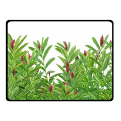 Tropical Floral Print Fleece Blanket (small) by dflcprints