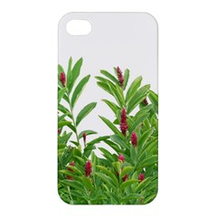 Tropical Floral Print Apple Iphone 4/4s Hardshell Case by dflcprints