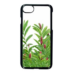 Tropical Floral Print Apple Iphone 7 Seamless Case (black) by dflcprints