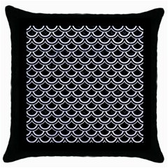 Scales2 Black Marble & White Marble Throw Pillow Case (black) by trendistuff