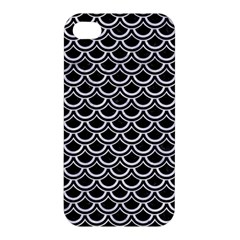 Scales2 Black Marble & White Marble Apple Iphone 4/4s Hardshell Case by trendistuff