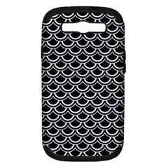 Scales2 Black Marble & White Marble Samsung Galaxy S Iii Hardshell Case (pc+silicone) by trendistuff
