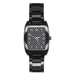Scales2 Black Marble & White Marble Stainless Steel Barrel Watch by trendistuff