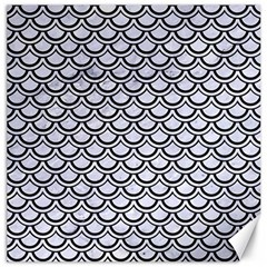 Scales2 Black Marble & White Marble (r) Canvas 12  X 12  by trendistuff