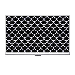 Scales1 Black Marble & White Marble Business Card Holder by trendistuff