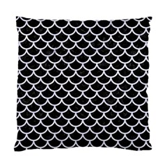 Scales1 Black Marble & White Marble Standard Cushion Case (one Side) by trendistuff