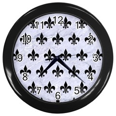 Royal1 Black Marble & White Marble Wall Clock (black)