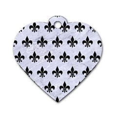 Royal1 Black Marble & White Marble Dog Tag Heart (one Side) by trendistuff
