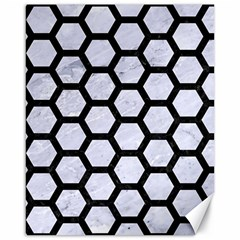 Hexagon2 Black Marble & White Marble (r) Canvas 16  X 20