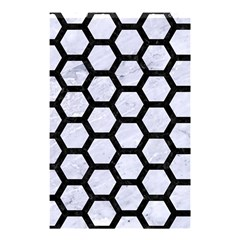 Hexagon2 Black Marble & White Marble (r) Shower Curtain 48  X 72  (small) by trendistuff