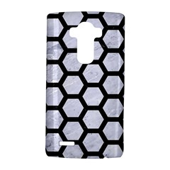 Hexagon2 Black Marble & White Marble (r) Lg G4 Hardshell Case