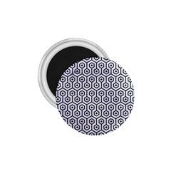 Hexagon1 Black Marble & White Marble (r) 1 75  Magnet by trendistuff
