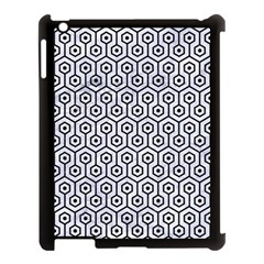 Hexagon1 Black Marble & White Marble (r) Apple Ipad 3/4 Case (black) by trendistuff