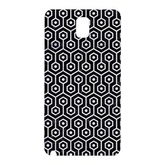 Hexagon1 Black Marble & White Marble Samsung Galaxy Note 3 N9005 Hardshell Back Case by trendistuff