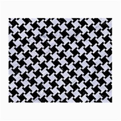 Houndstooth2 Black Marble & White Marble Small Glasses Cloth by trendistuff