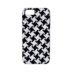 Houndstooth2 Black Marble & White Marble Apple Iphone 5 Classic Hardshell Case (pc+silicone) by trendistuff