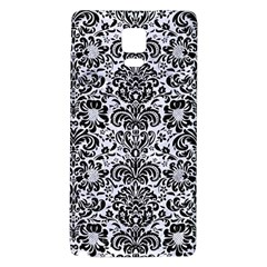 Damask2 Black Marble & White Marble (r) Samsung Note 4 Hardshell Back Case by trendistuff