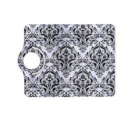 Damask1 Black Marble & White Marble (r) Kindle Fire Hd (2013) Flip 360 Case by trendistuff