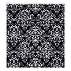 Damask1 Black Marble & White Marble Shower Curtain 66  X 72  (large) by trendistuff
