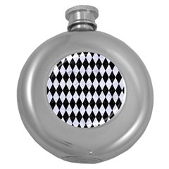 Diamond1 Black Marble & White Marble Hip Flask (5 Oz) by trendistuff