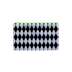 Diamond1 Black Marble & White Marble Cosmetic Bag (xs) by trendistuff