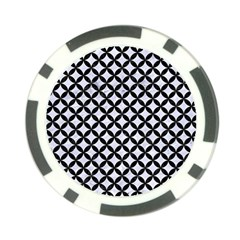 Circles3 Black Marble & White Marble (r) Poker Chip Card Guard by trendistuff