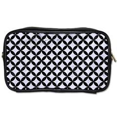 Circles3 Black Marble & White Marble (r) Toiletries Bag (two Sides) by trendistuff