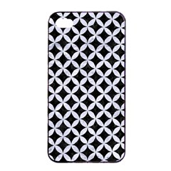 Circles3 Black Marble & White Marble Apple Iphone 4/4s Seamless Case (black) by trendistuff