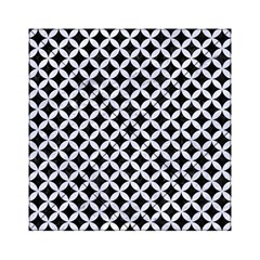 Circles3 Black Marble & White Marble Acrylic Tangram Puzzle (6  X 6 ) by trendistuff