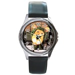 parsley Round Metal Watch