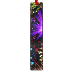 Celebration Fireworks In Red Blue Yellow And Green Color Large Book Marks by Onesevenart