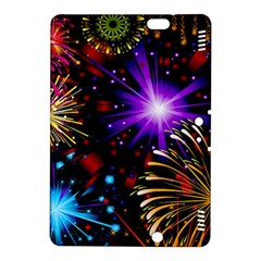 Celebration Fireworks In Red Blue Yellow And Green Color Kindle Fire Hdx 8 9  Hardshell Case by Onesevenart
