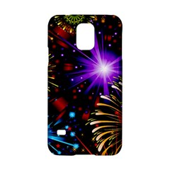 Celebration Fireworks In Red Blue Yellow And Green Color Samsung Galaxy S5 Hardshell Case  by Onesevenart