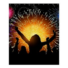 Celebration Night Sky With Fireworks In Various Colors Shower Curtain 60  X 72  (medium)  by Onesevenart