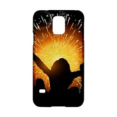 Celebration Night Sky With Fireworks In Various Colors Samsung Galaxy S5 Hardshell Case  by Onesevenart