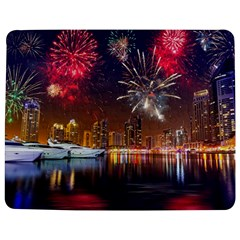 Christmas Night In Dubai Holidays City Skyscrapers At Night The Sky Fireworks Uae Jigsaw Puzzle Photo Stand (Rectangular)