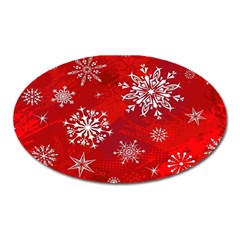 Christmas Pattern Oval Magnet by Onesevenart