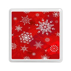 Christmas Pattern Memory Card Reader (square)  by Onesevenart