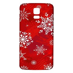 Christmas Pattern Samsung Galaxy S5 Back Case (White) by Onesevenart