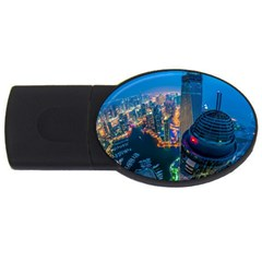 City Dubai Photograph From The Top Of Skyscrapers United Arab Emirates Usb Flash Drive Oval (4 Gb) by Onesevenart