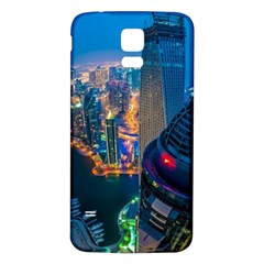 City Dubai Photograph From The Top Of Skyscrapers United Arab Emirates Samsung Galaxy S5 Back Case (white) by Onesevenart