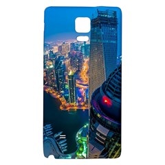 City Dubai Photograph From The Top Of Skyscrapers United Arab Emirates Galaxy Note 4 Back Case by Onesevenart